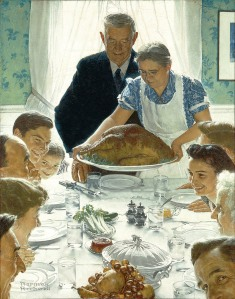 "Norman Rockwell, ""Freedom from Want"""