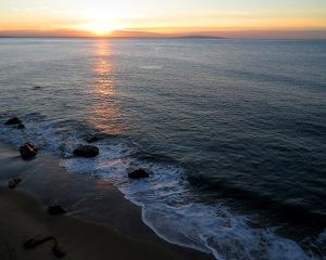 Sunrise from my hotel room balcony in Malibu